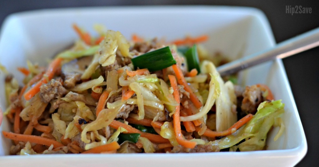 Egg Roll In a Bowl Recipe - a dish full of yummy egg roll in a bowl