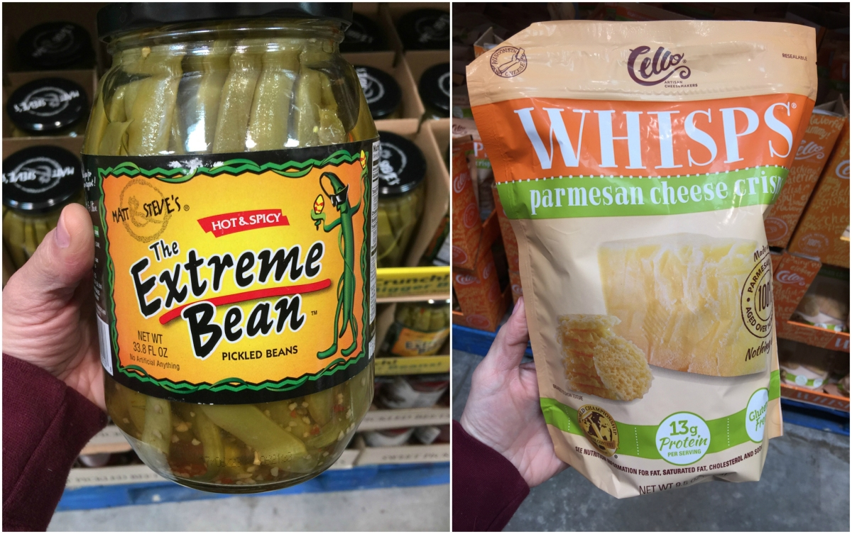 keto snacks at costco including spicy beans and cello cheese whisps