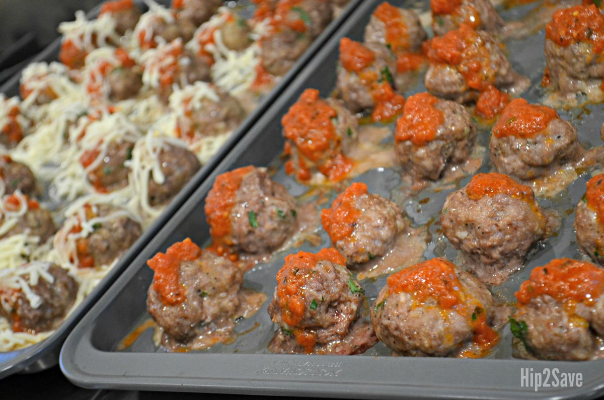 low carb meatballs recipe in a pan
