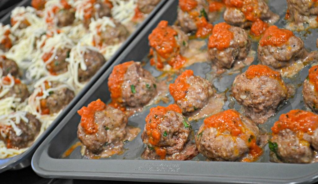 meatballs on a pan