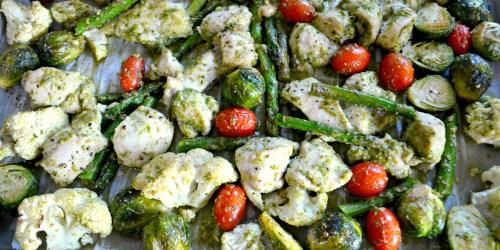 You've Gotta Try This One-Pan Keto Chicken Pesto and Veggies Recipe!
