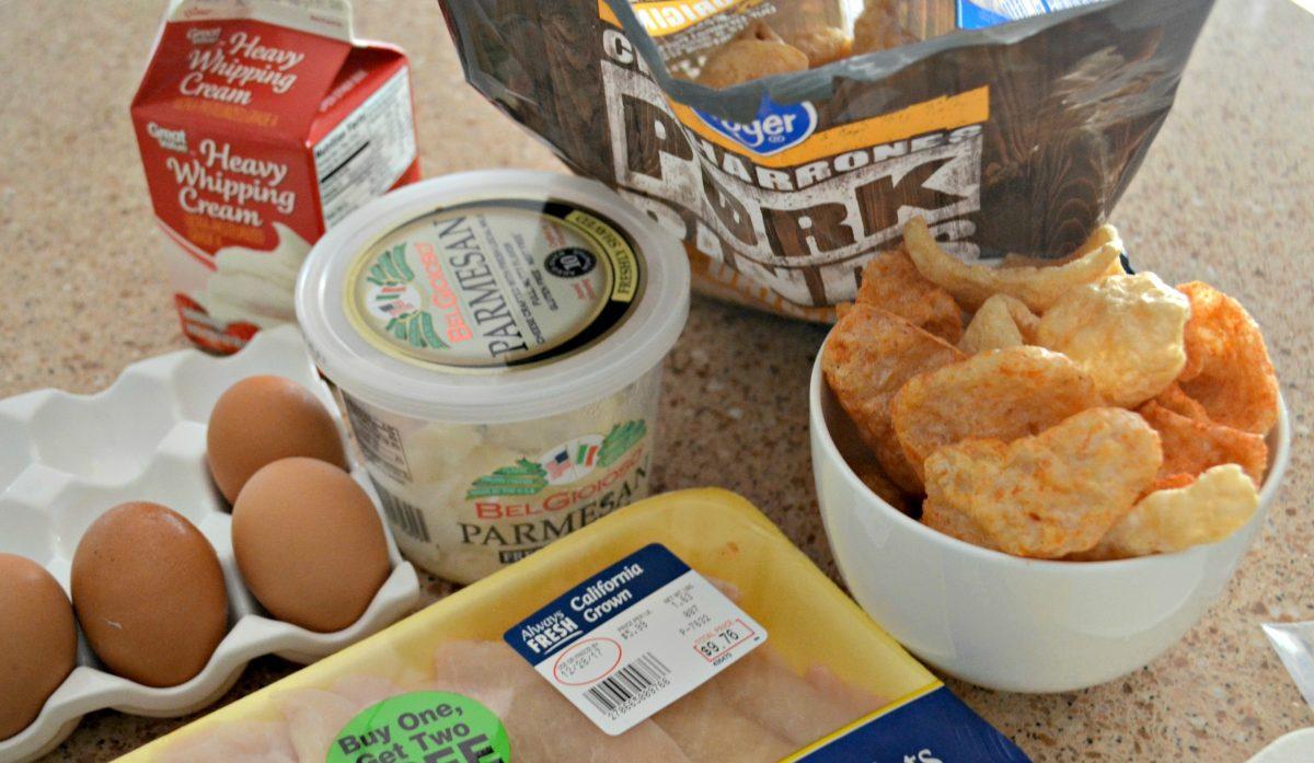 ingredients to make crispy chicken breading