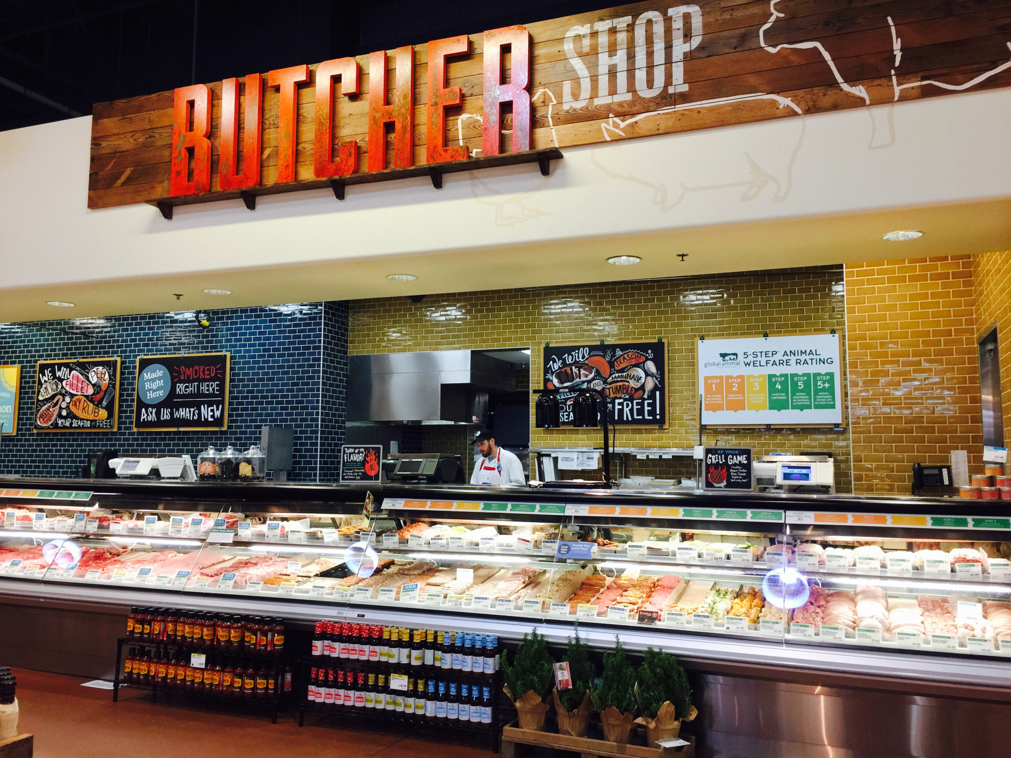 butcher counter at whole foods
