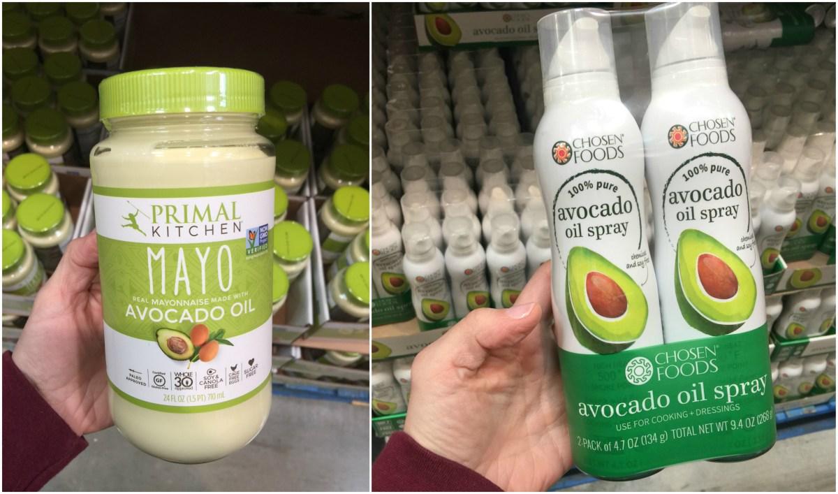 keto condiments at costco including avocado mayo and avocado spray