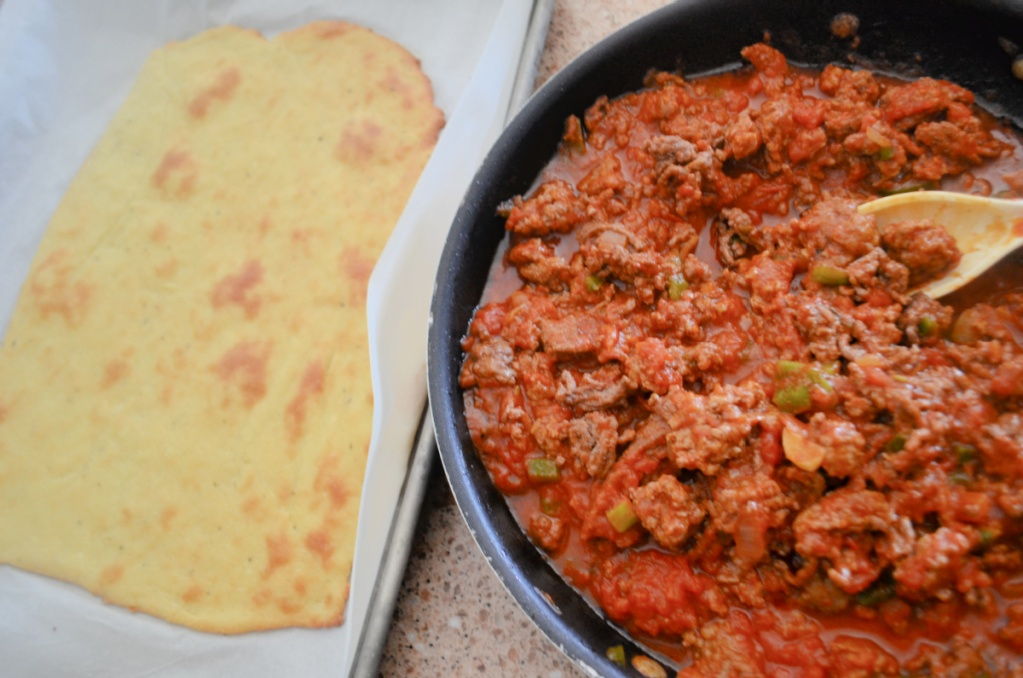 fathead dough and meat sauce