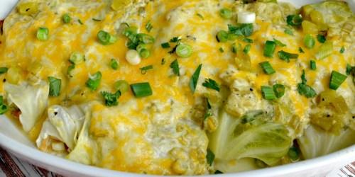 Keto Green Chile Cabbage Enchiladas Recipe