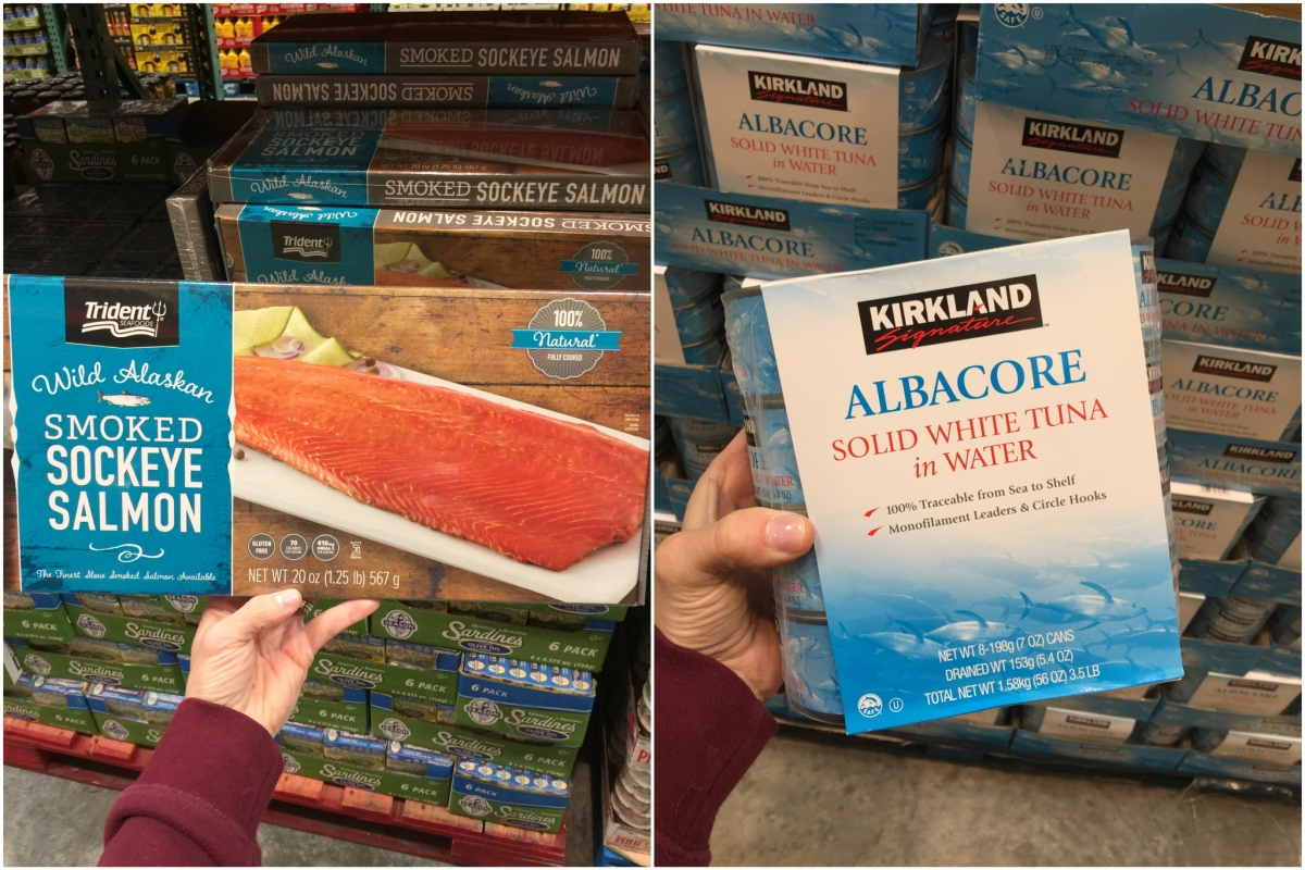 keto meats at costco including salmon and tuna