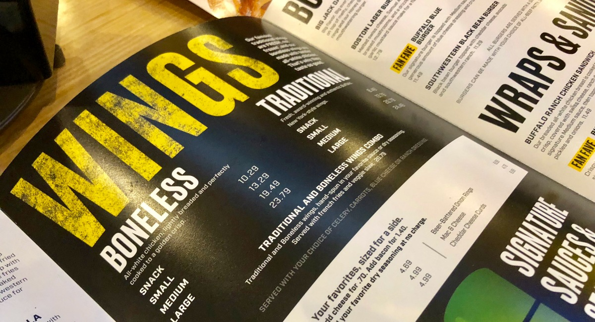 photo regarding Buffalo Wild Wings Printable Menu identified as Small Carb and Keto Cafe and Eating Expert
