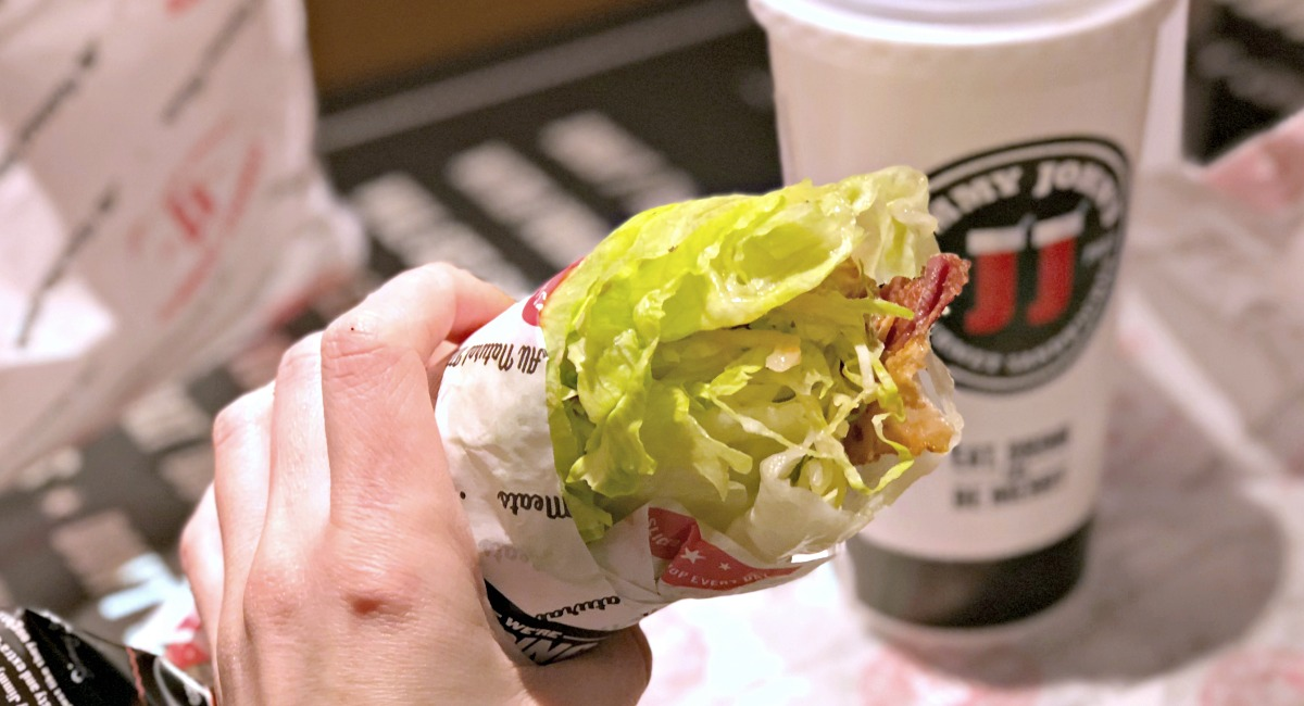 keto lettuce wrapped blt from jimmy john's