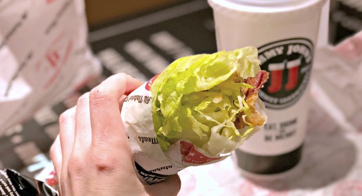 keto lettuce wrapped blt from jimmy john's