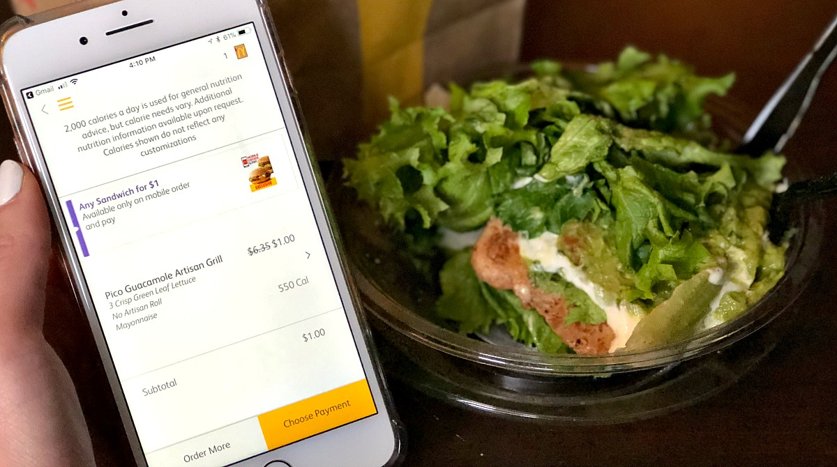 keto chicken sandwich from mcdonald's using mobile app