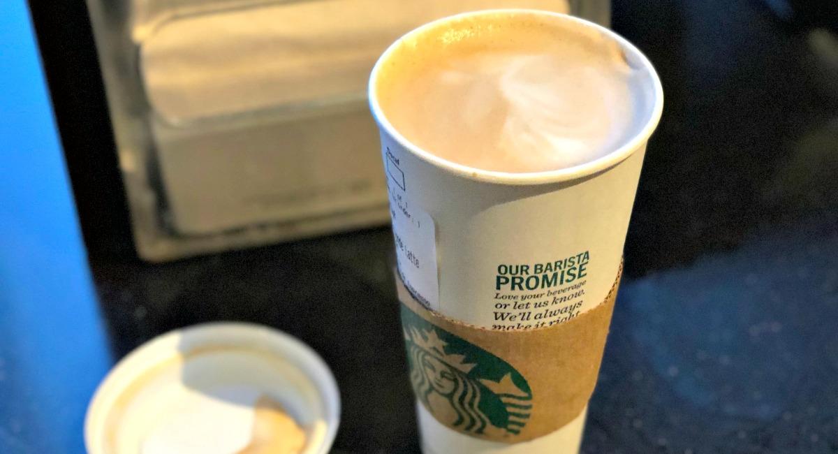 venti heavy cream latte from starbucks