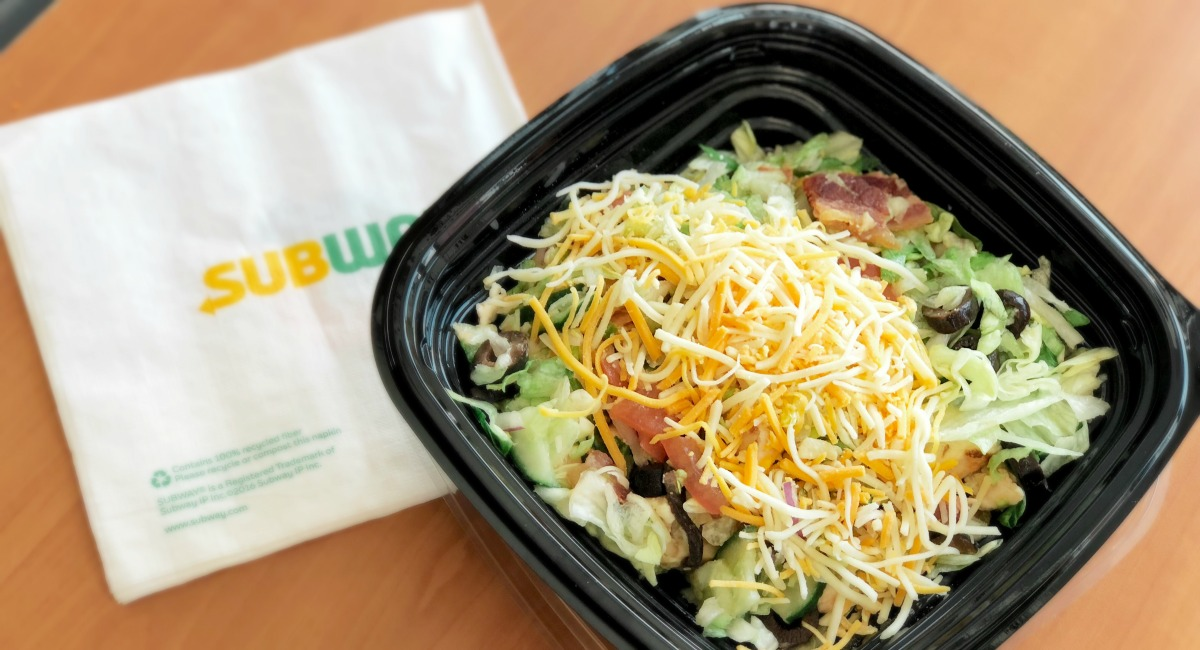 keto salad from subway
