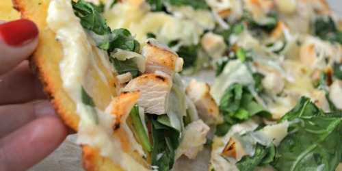 This White Spinach and Chicken Pizza Tastes Too Good to be Keto