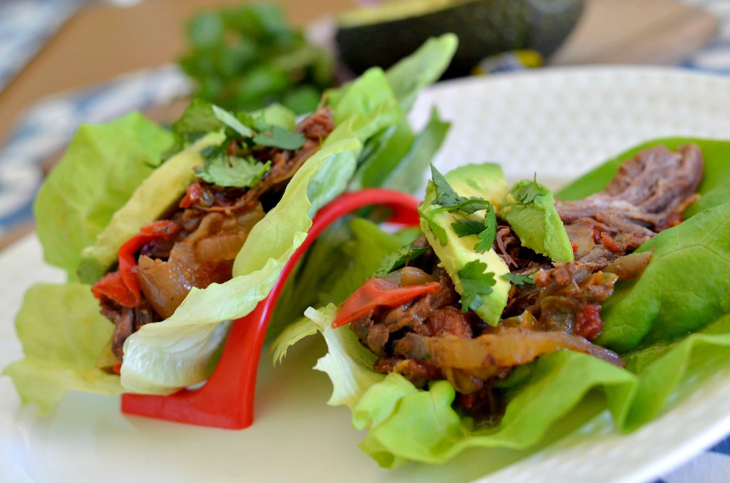 keto tacos in lettuce cups