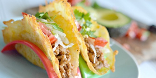 These ONE-Ingredient Cheese Taco Shells Are So Crunchy!