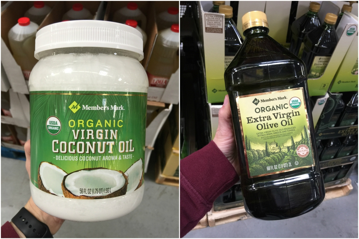 keto condiments at sam's club including coconut oil and olive oil