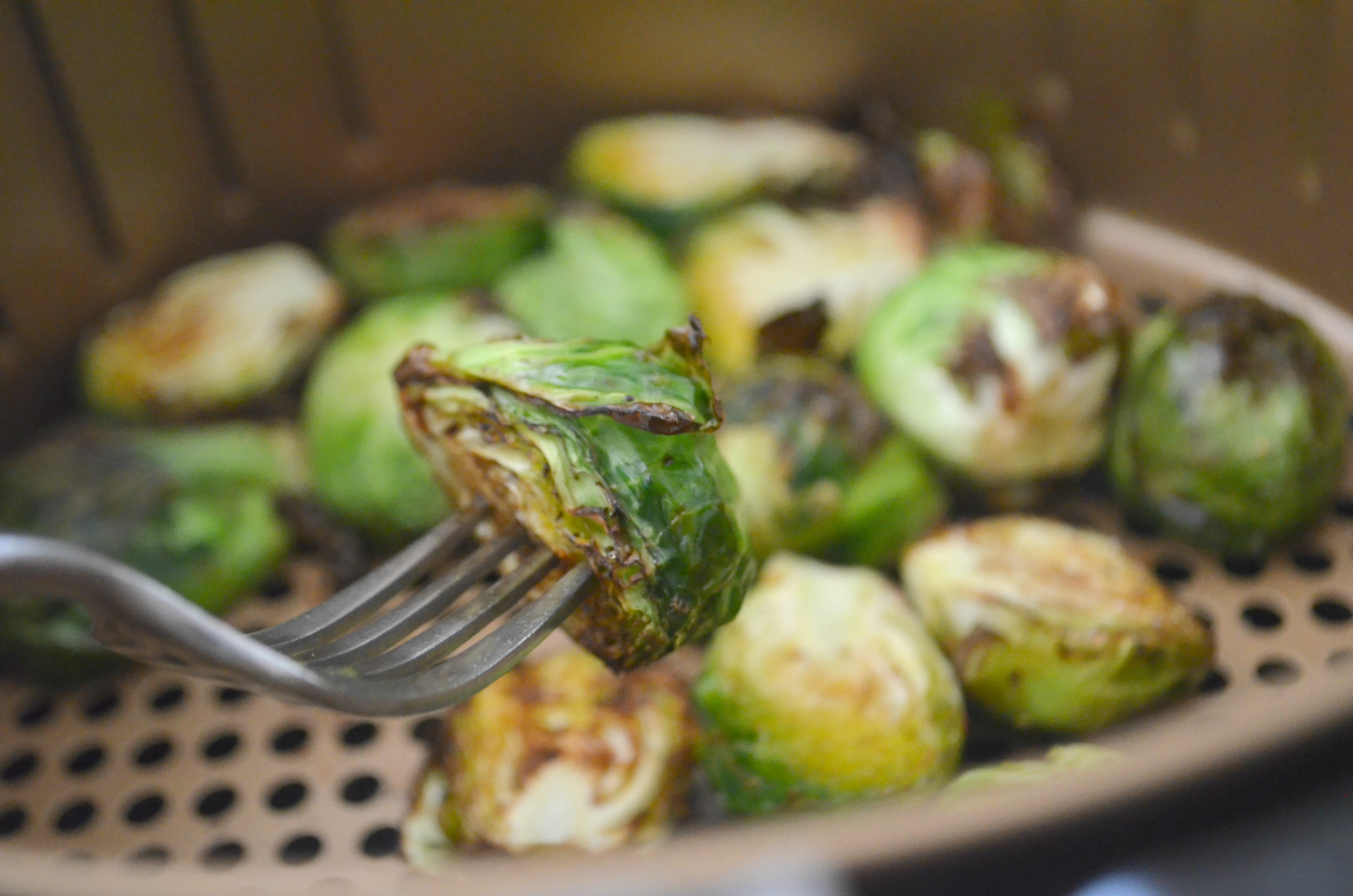These air fryer Brussels sprouts are a hit at my house.