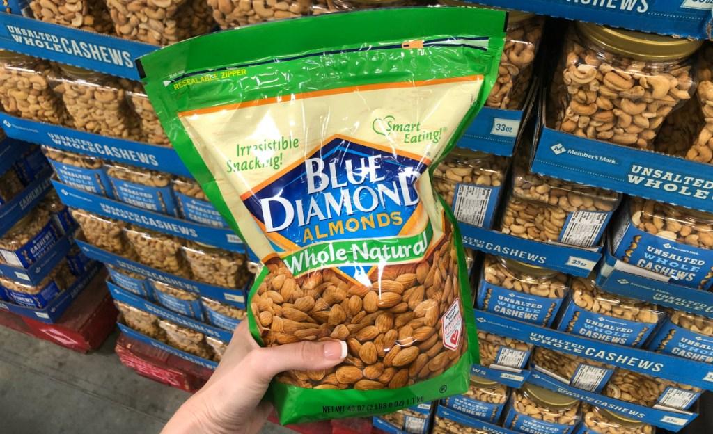 blue diamond whole almonds