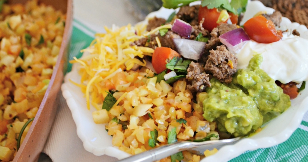 fresh veggies for burrito