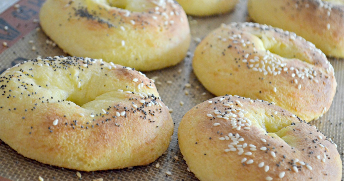 easy ways to cut carbs – fat head bagels on a pan