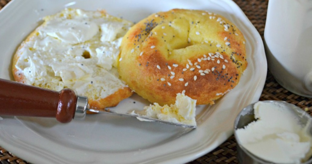 Keto Bagel With Cream Cheese
