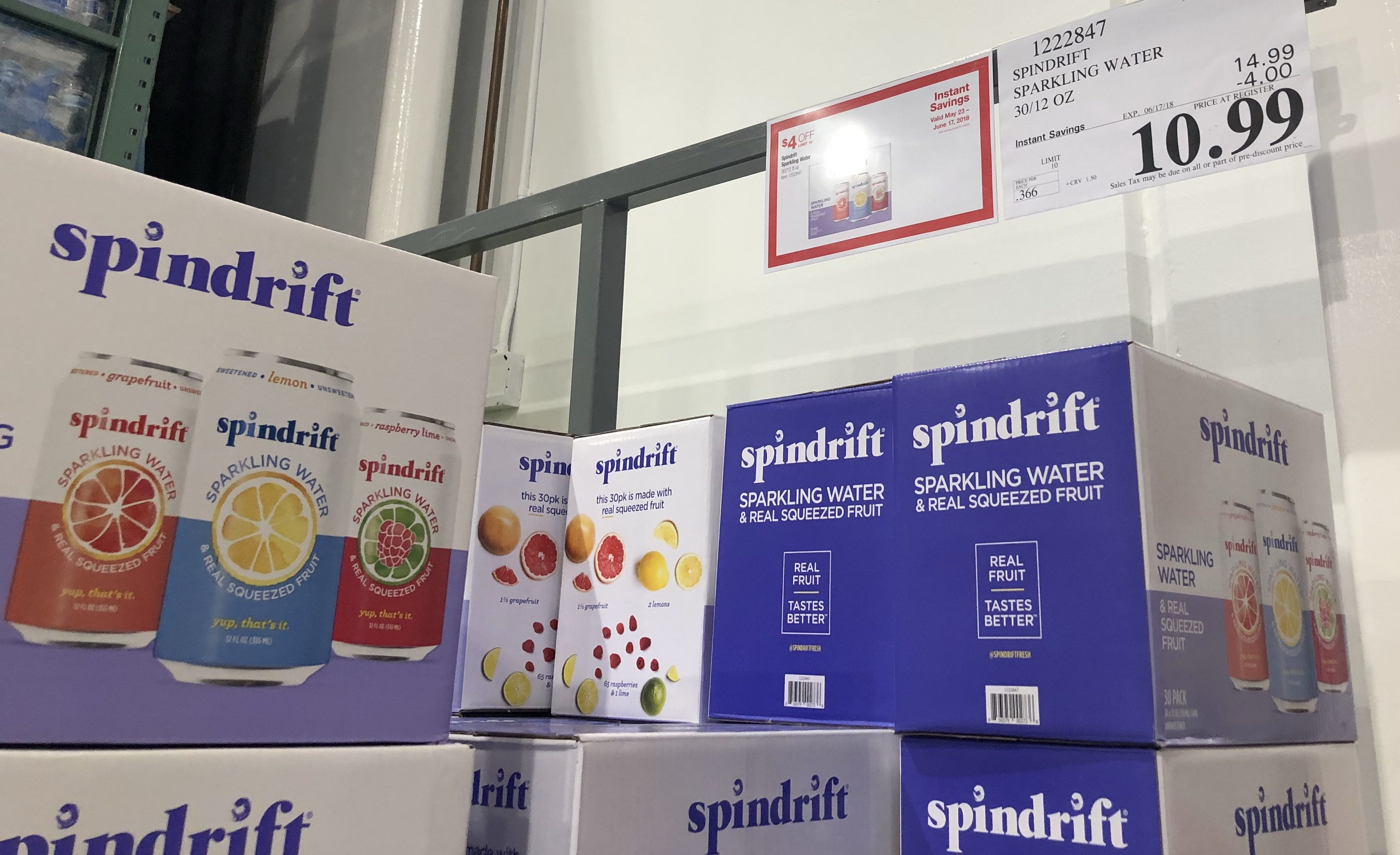 new costco instant savings deals – spindrift sparkling water