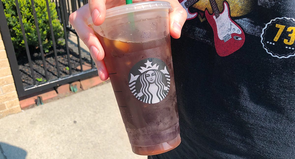 keto unsweetened iced tea from Starbucks