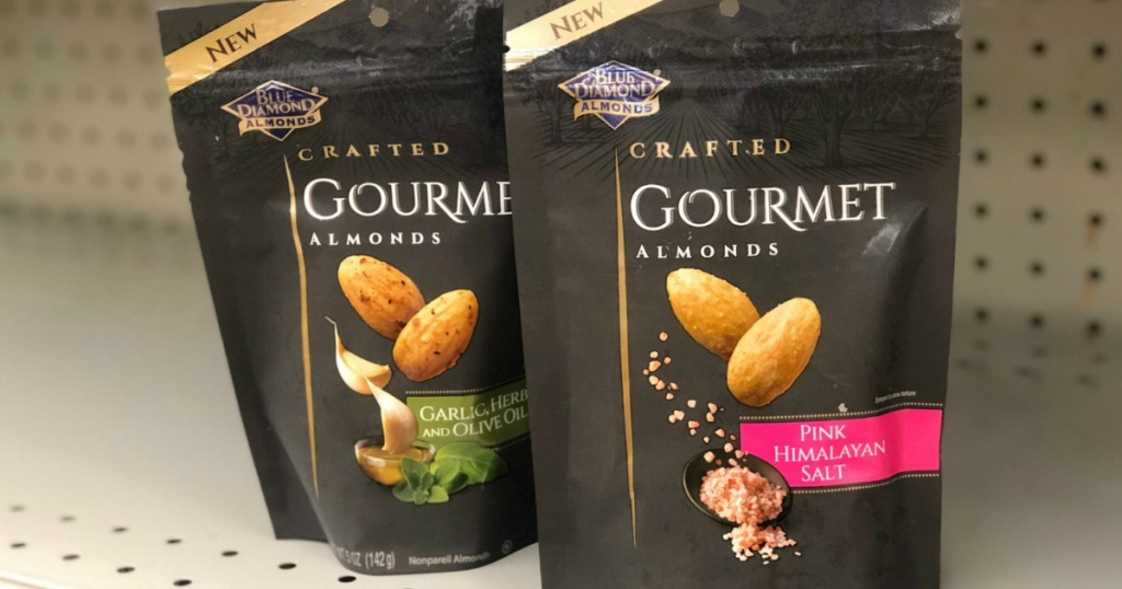 2 bags of Blue Diamond gourmet almonds