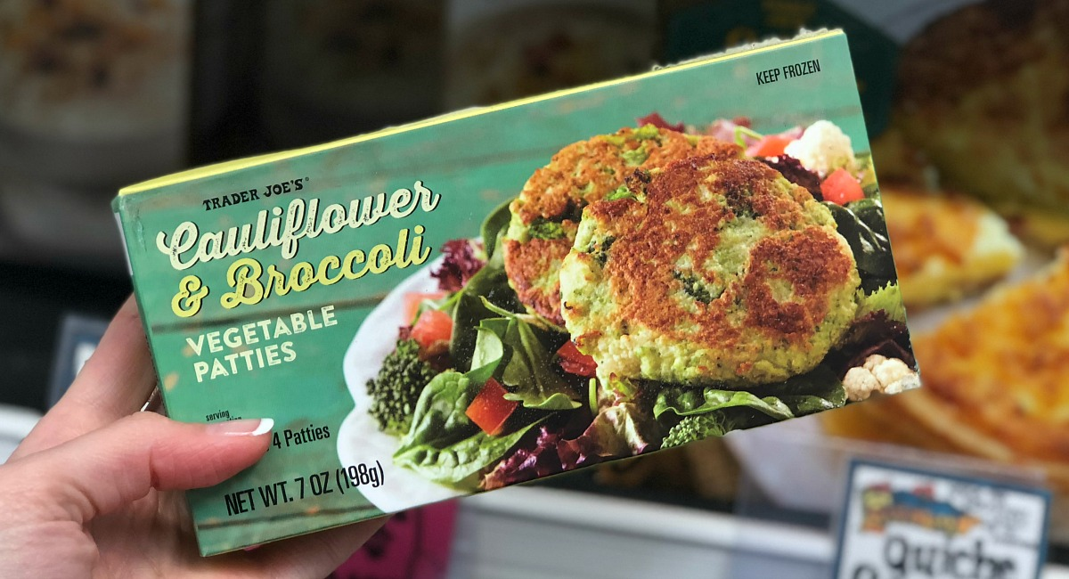 best trader joe's low carb food finds — cauliflower & broccoli patties