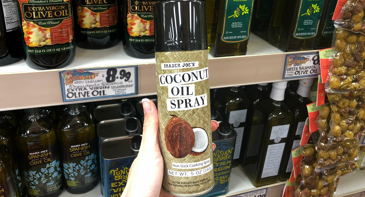 best trader joe's low carb food finds — coconut oil spray