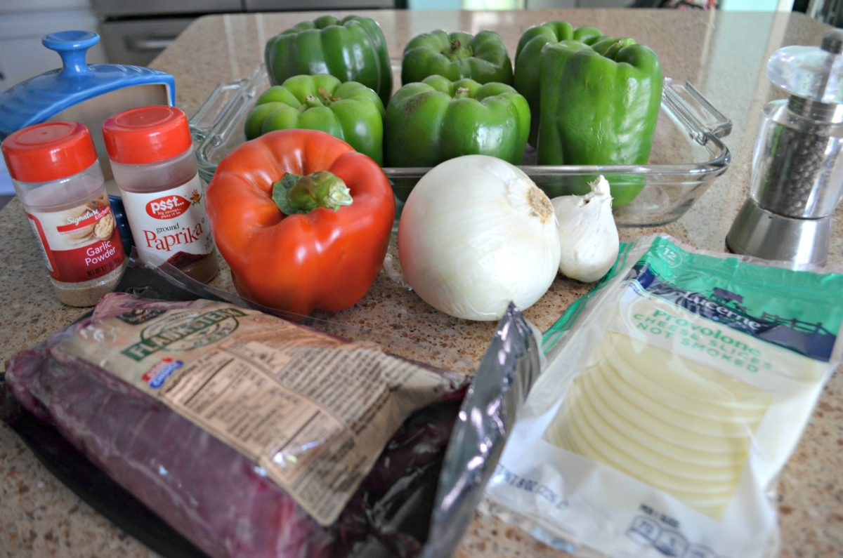 Keto Philly Cheesesteak Stuffed Peppers use just a few ingredients for a delicious meal.