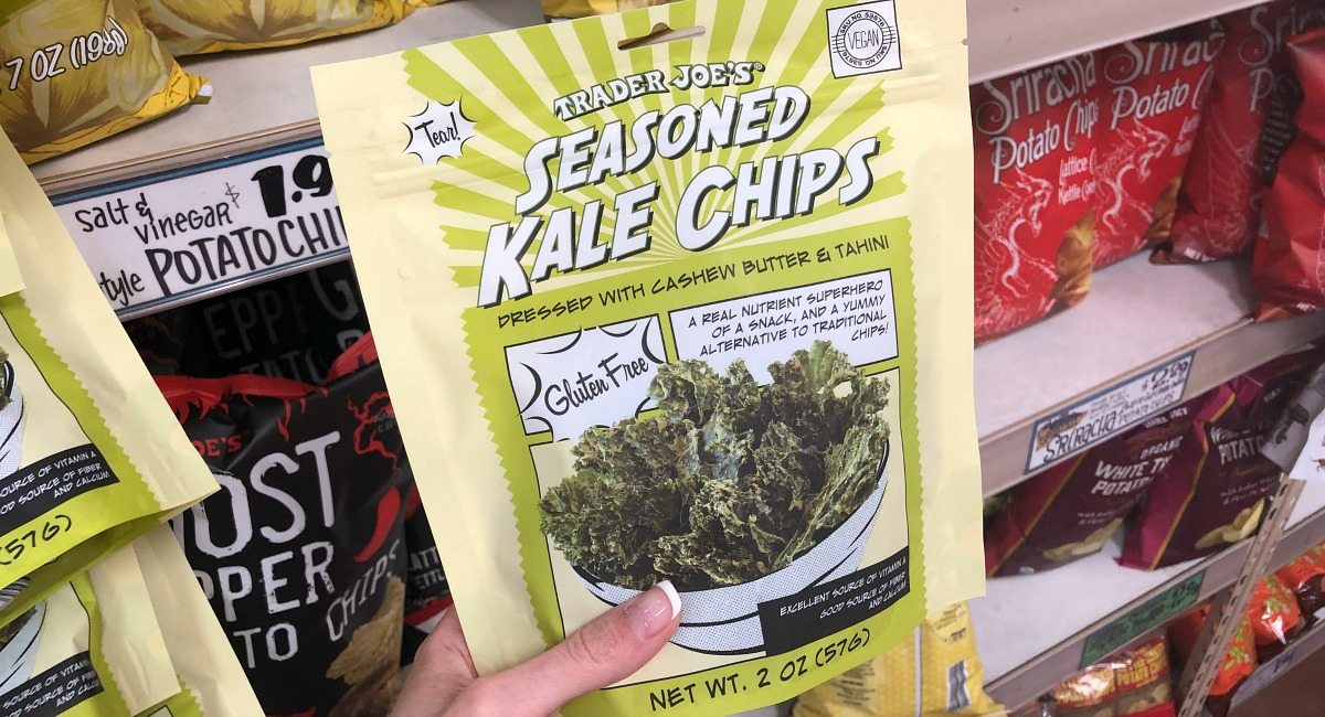 best trader joe's low carb food finds — kale chips