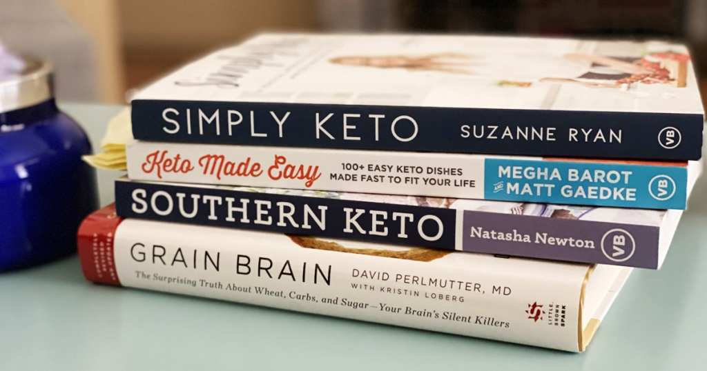 stack of keto books
