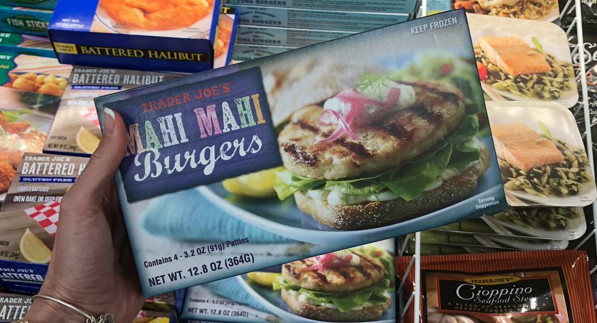 best trader joe's low carb food finds — mahi mahi burgers