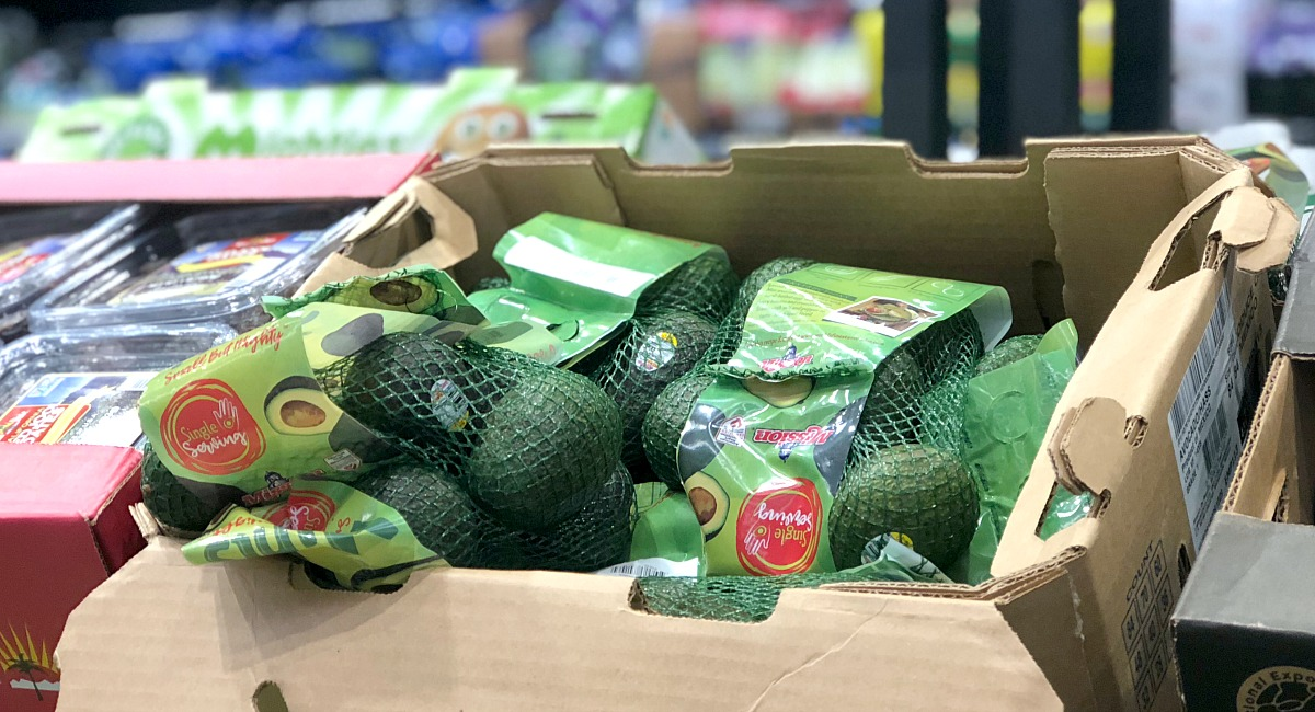 bag of mini avocados