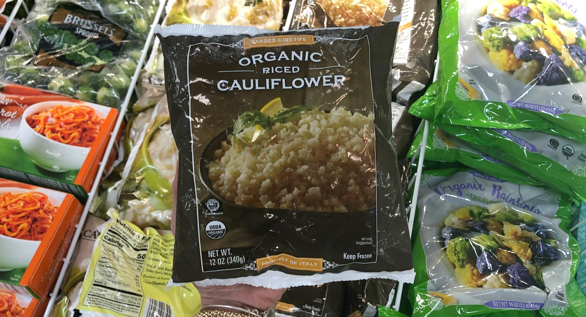 best trader joe's low carb food finds — riced cauliflower