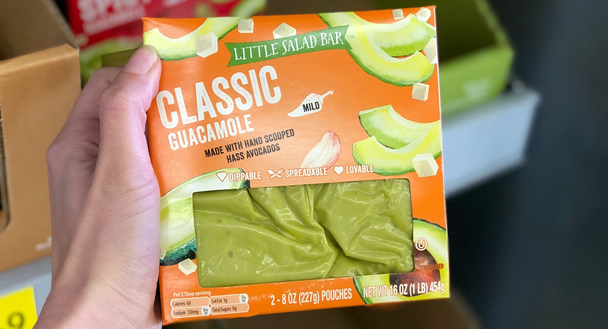 package of guacamole at aldi