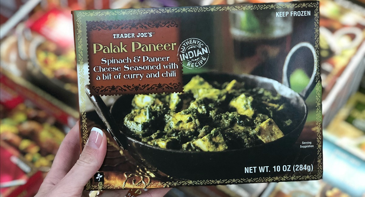 best trader joe's low carb food finds — palek paneer