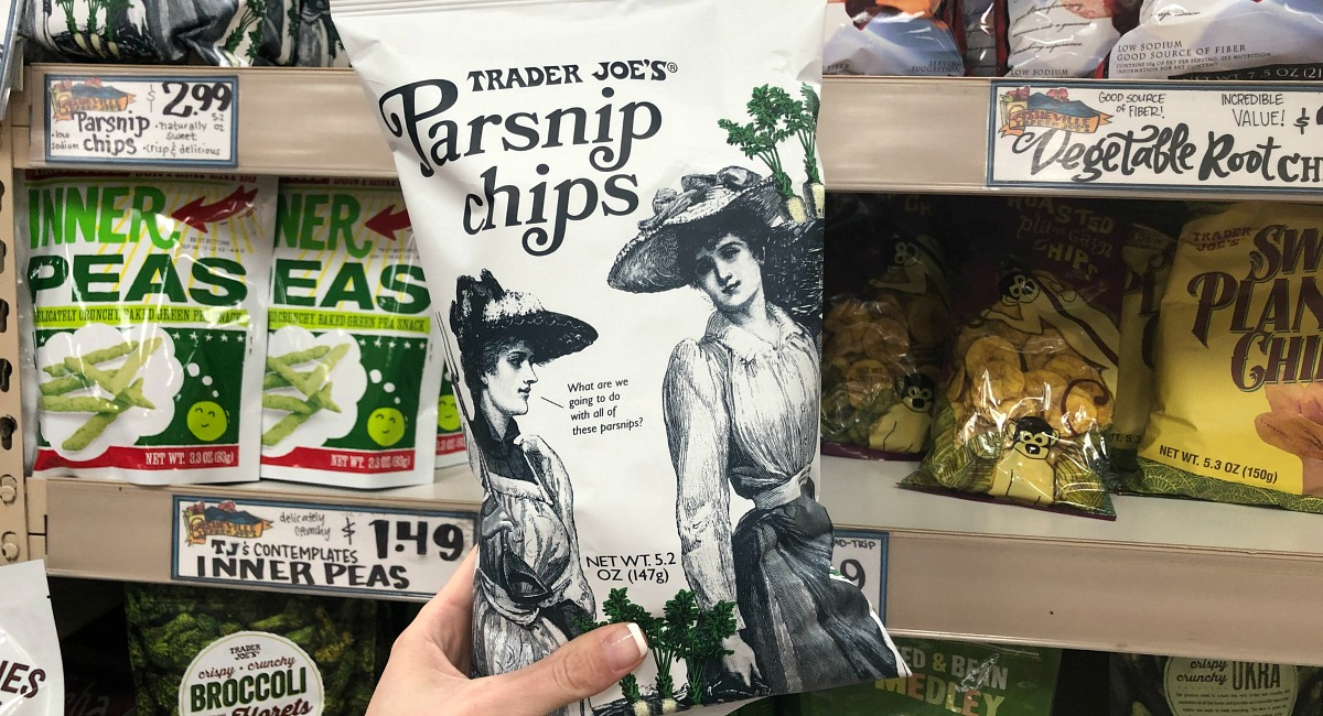 best trader joe's low carb food finds — parsnip chips
