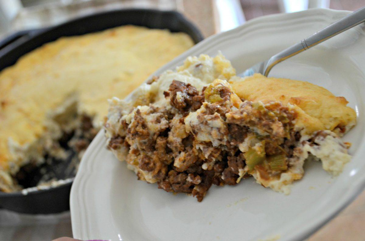 keto shepherd's pie recipe – served on a plate