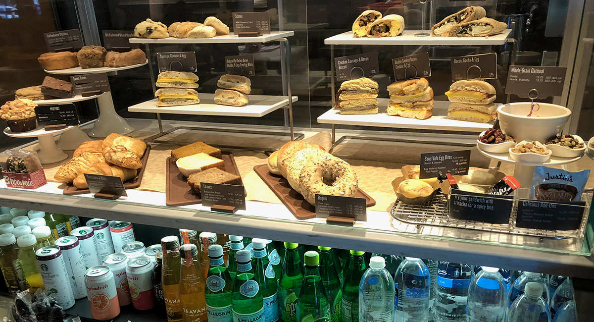 food case at Starbucks