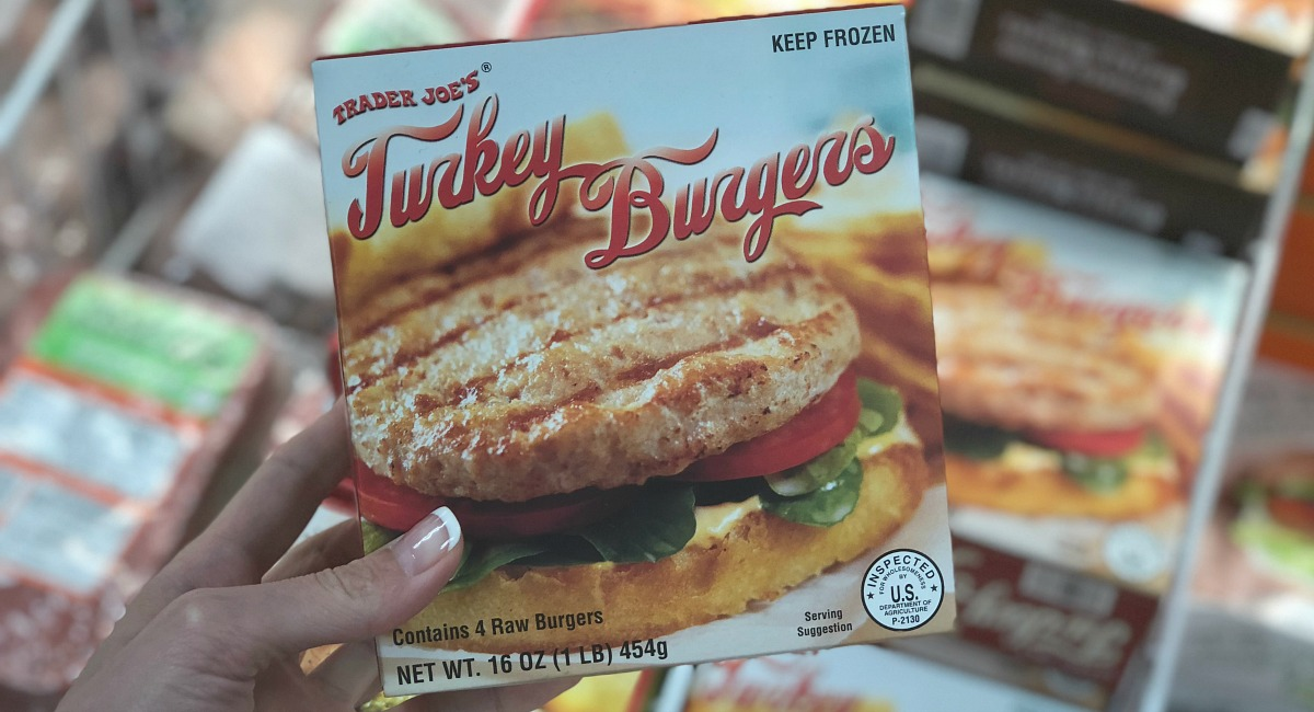 best trader joe's low carb food finds — turkey burgers