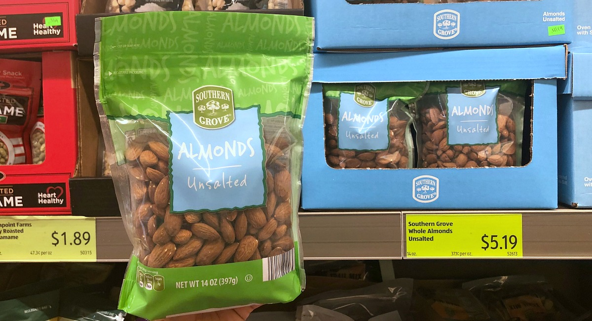 almonds at aldi
