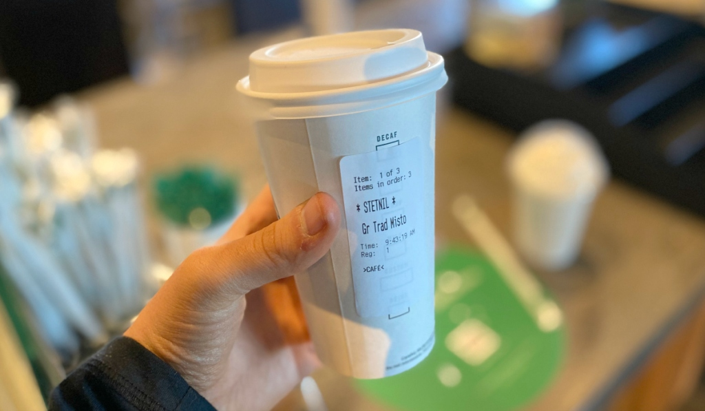 Keto Caffe Misto at Starbucks