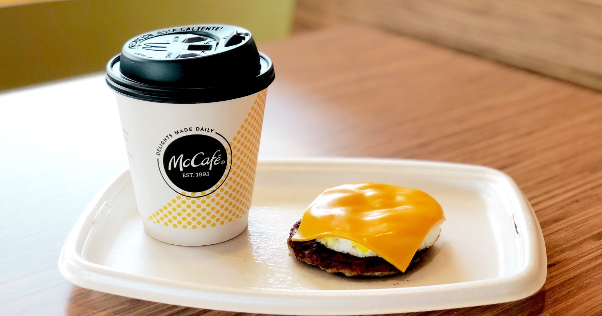 mcdonalds keto dining guide – black coffee and an egg mcmuffin with cheese, no bread