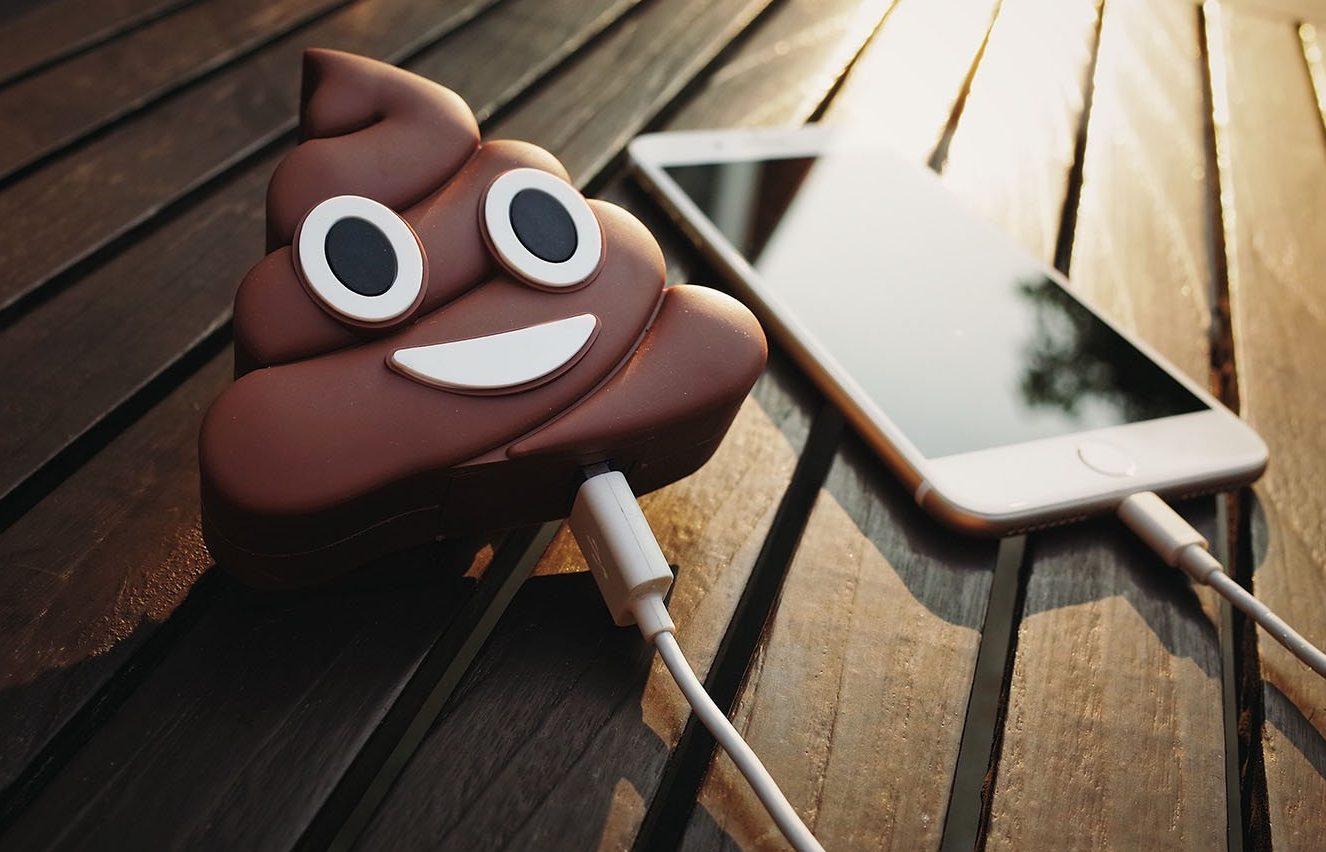 favorite poop related products - Poop Emoji Phone Charger