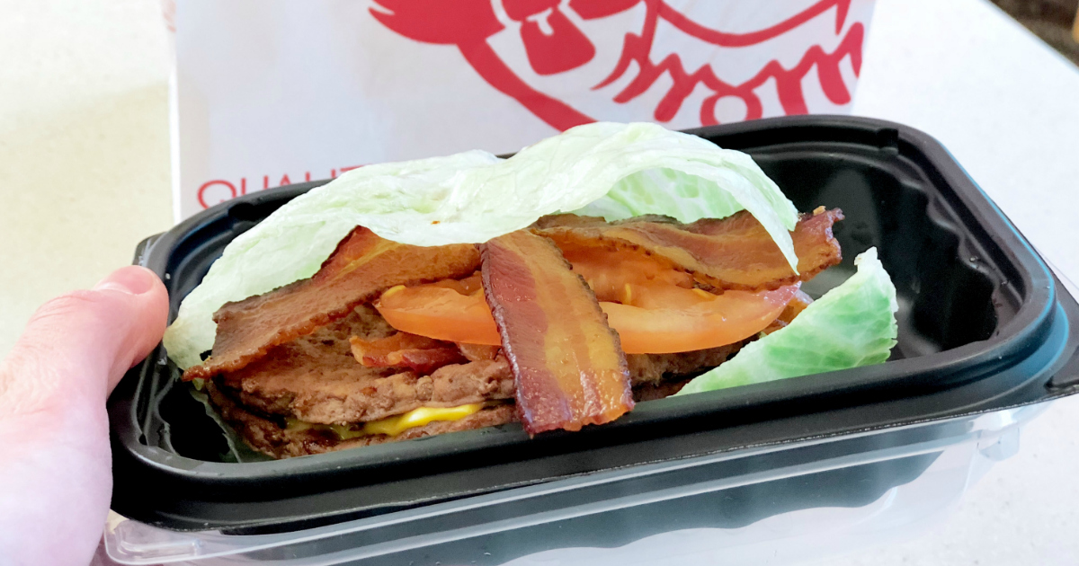 use a coupon to get this wendys baconator without the bun