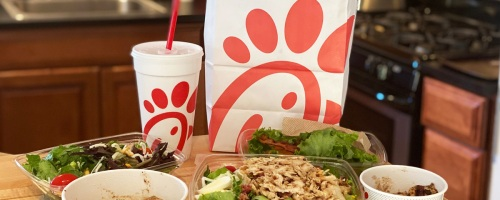 chickfila meals on kitchen counter
