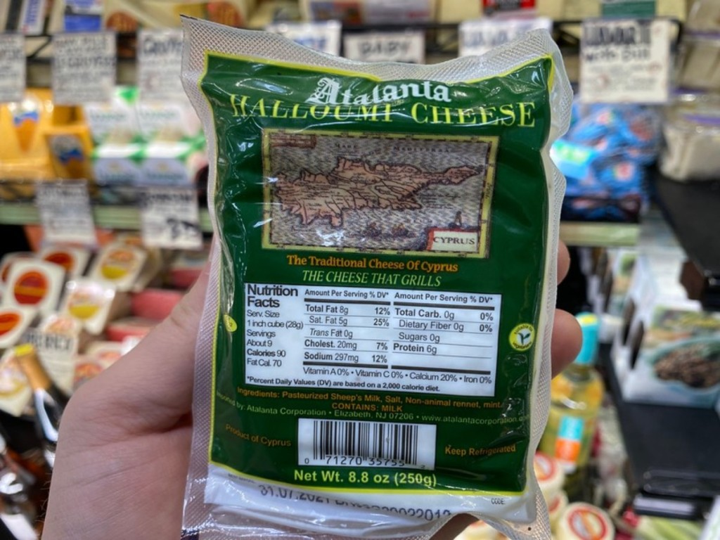 package of Halloumi cheese